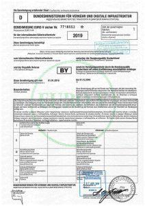 Немецкий двухсторонний дозвол класса ЕВРО 5
